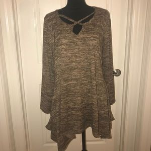Plus Size Strappy Marled Tunic